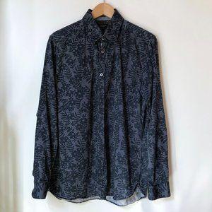 Ted Baker, Blue Flower Shirt, Size 4